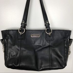 Coach | Classic Black Leather Tote Carryall  K04